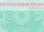 Free Rosette Photoshop Brushes