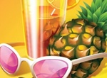 Summer Day Tropical Cocktail Vector Graphic