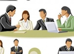 Large Set Of Vector Business People