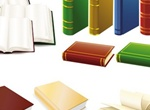 Realistic Hard Bound Books Vector Graphics