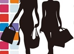 Fashion Shopping Silhouette Vector Graphic