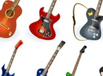 7 Electric And Acoustic Guitar Vector Graphics