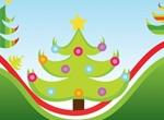 Christmas Tree Illustration Scene