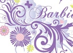 Pretty Purple Floral Butterfly Abstract Vector Graphic