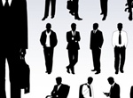 14 Distinguished Businessmen Silhouettes