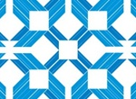 Multiple Blue Squares Diamond Vector Illustration