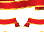 8 Classic Red Vector Ribbons