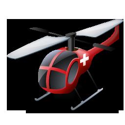 Helicopter, Medical, Transportation, Vehicle Icon