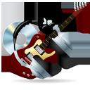 Cd, Disc, Guitar, Headphones, Instrument, Music Icon