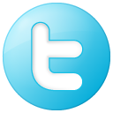Blue, Button, Social, Twitter Icon