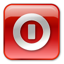 Box, Off, Red, Shutdown, Turn Icon