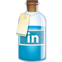 Bottle, Linkedin Icon