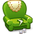 Armchair, Green Icon