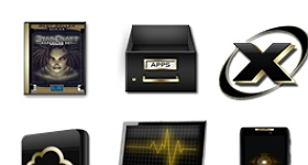 Black And Gold 3 Icons