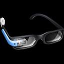 Blue, Glasses, Google Icon