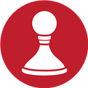 Chess, Game, Red Icon
