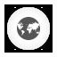 Internet, Round, White Icon