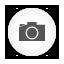 Camera, Photo, Round, White Icon