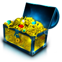 Chest, Gold, Treasure Icon