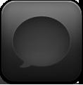 Black, Message Icon