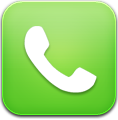 Green, Phone Icon