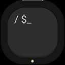 Flat, Round, Terminal Icon