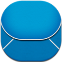 Blue, Email, Flat, Round Icon
