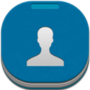 Contacts, Flat, Round Icon