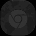 Chrome, Flat, Round Icon