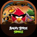 Angrybirdsspace, Flat, Round Icon