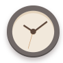 Brown, Clock, Flat Icon