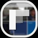 Flat, Flipboard, Round Icon