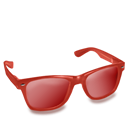 Glasses, Red Icon