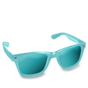 Aqua, Glasses Icon