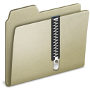 Lightbrown, Zip Icon