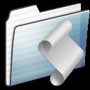 Folder, Graphite, Script, Stripe Icon