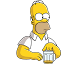 , Beer, Homer, Simpson Icon