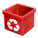 Dsquared, Empty, Red, Trash Icon