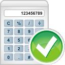 Accept, Calculator Icon