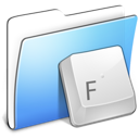 Aqua, Folder, Fonts, Smooth Icon