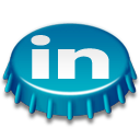 Beer, Cap, Linkedin Icon