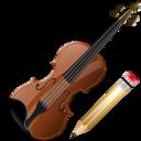 Violin, Write Icon