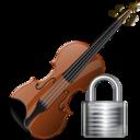 Lock, Violin Icon