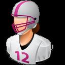 Female, Footballplayer, Light Icon