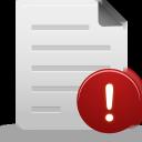 File, Warning Icon
