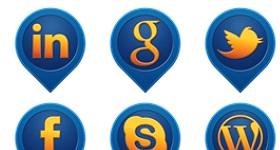 Media Pin Social Icons