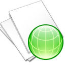 Documents, Web, White Icon