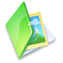 Folder, Green, Picture Icon