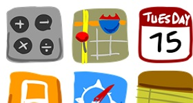 Hand Drawn iPhone Icons