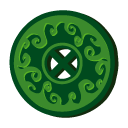 Disc, Grass, Magic Icon